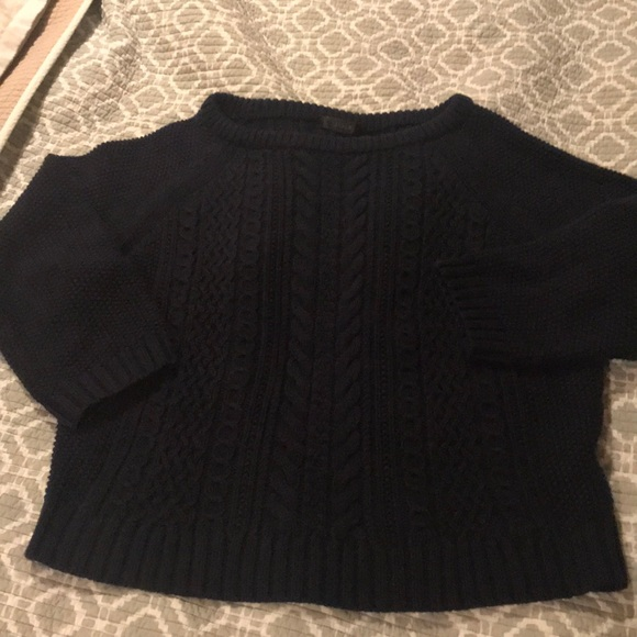 J. Crew Sweaters - J. Crew cable knit cropped sweater